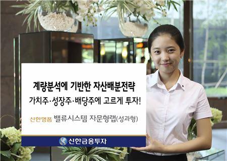 신한금융투자, '신한명품 밸류시스템 자문형랩' 출시
