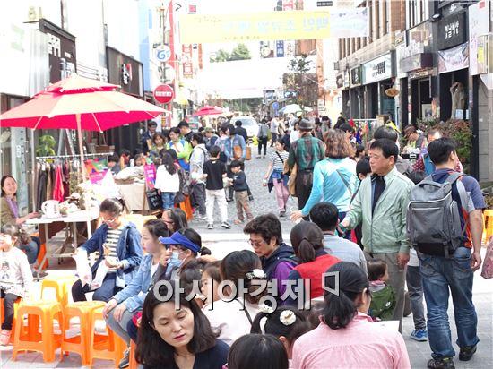 예술의 거리가 활성화 되면서 매주 토요일이면 수많은 시민들과 관광객들이 찾아와 공연도 보고 예술체험을 하고있다.