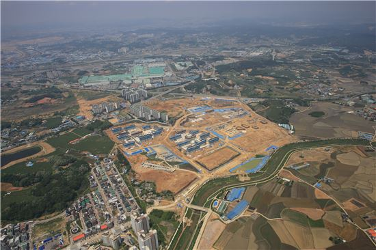 GS건설 '자이더익스프레스'가 들어서는 경기 평택 동삭2지구 항공사진(자료: GS건설)