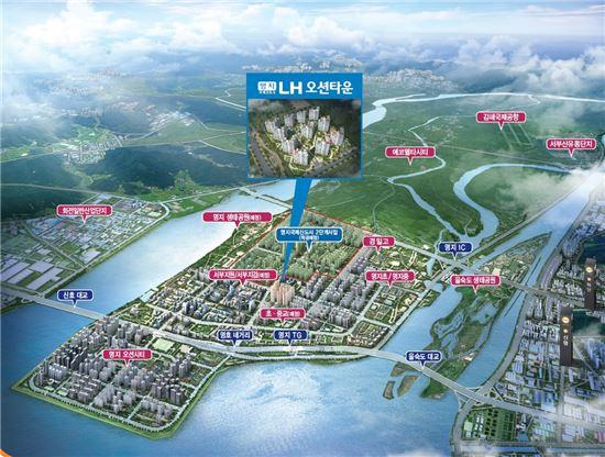 명지국제신도시 지역도(자료: LH)