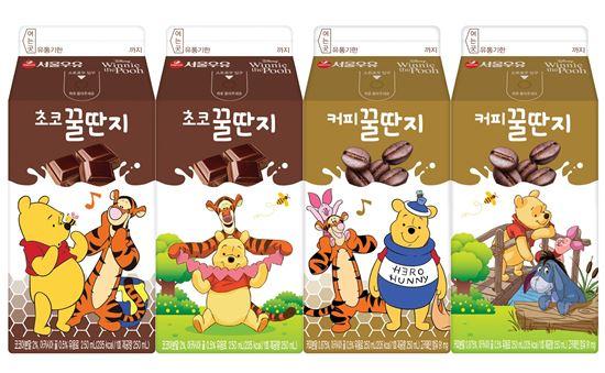 서울우유, 저지방 가공유 꿀딴지 브랜드 라인업 '초코·커피' 2종 출시