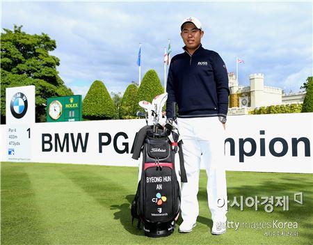안병훈이 BMW PGA챔피언십 개막을 하루 앞두고 웬트워스골프장에서 포즈를 취했다. 잉글랜드=Getty images/멀티비츠