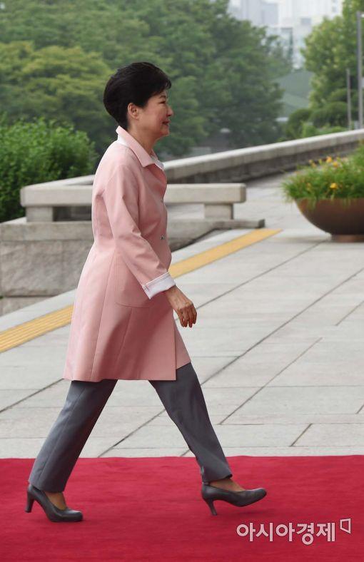 [포토]국회 도착한 박근혜 대통령