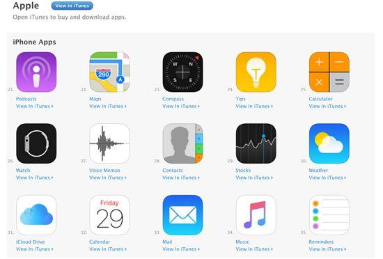 애플이 iOS10부터는 선탑재 앱을 앱스토어에서 다운로드 받을 수 있도록 정책을 바꾼다. (출처 : 더 버지)