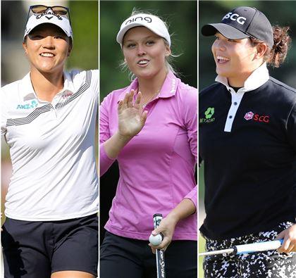 리디아 고와 브룩 헨더슨, 에리야 쭈따누깐(왼쪽부터)은 올해 LPGA투어를 호령하고 있는 '신트로이카'다.