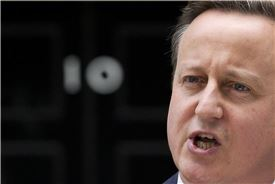 ▲'EU 잔류'를 호소하던 데이비드 캐머런 영국 총리