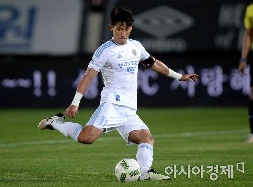 [포토]김태환, '침착하게 성공시킨 PK골'