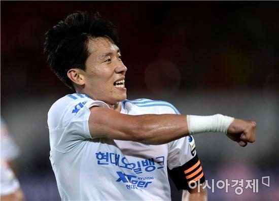 [포토]페널티킥 골 환호하는 김태환