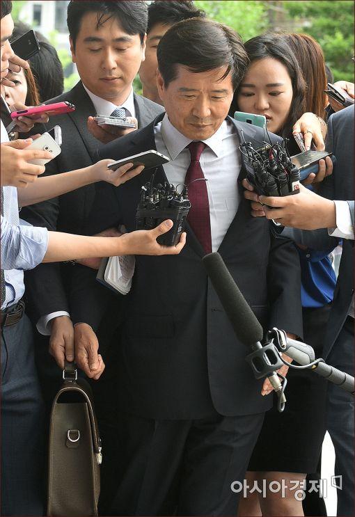 [포토]'분식회계' 대우조선해양 남상태 전 사장 소환