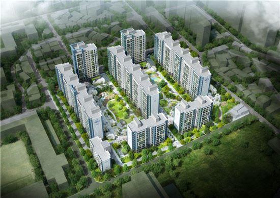 서울 둔촌동 현대1차 아파트 리모델링 사업 조감도(제공: 포스코건설)