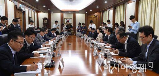 [포토]한국은행 긴급 간부회의