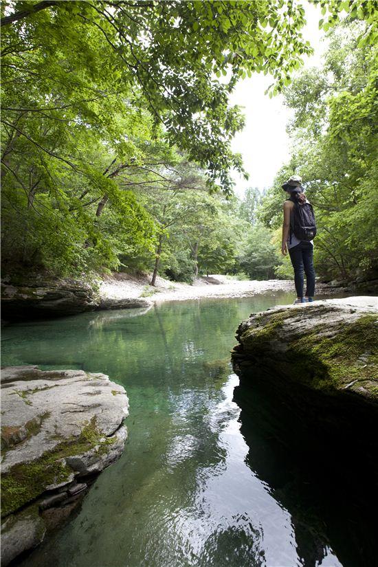 고추장 마을로 유명한 순창에는 작은 금강산이라 불리는 강천산이 있다.