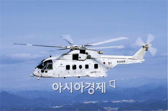 일본 해상자위대 소속 소해(기뢰제거) 헬기