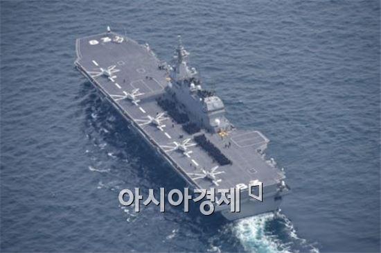 일본의 헬기탑재 호위함 이즈모함