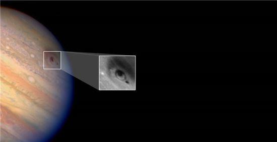 ▲허블우주망원경이1994년 목성에 충돌한 슈메이커 레비 혜성을 포착했다.[사진제공=NASA]