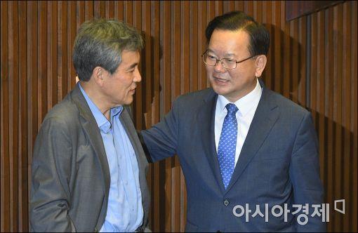 [포토]이야기하는 김부겸·이상돈