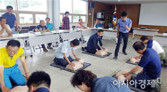 보성군 조성면, 이장 및 직원대상 심폐소생술 교육 실시