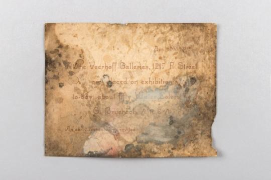 화가 조지 로버트 브뤼네의 전시회 초대장(1892년). 사진=문화재청 제공