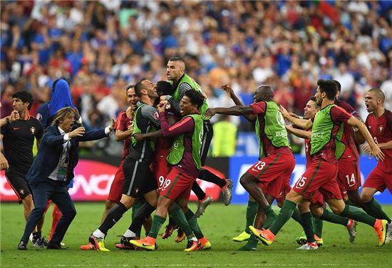 포르투갈 대표팀 [사진=유로2016 공식 페이스북]