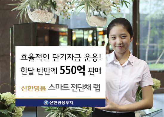 '신한명품 스마트전단채 랩' 출시 한달 반 만에 550억 판매