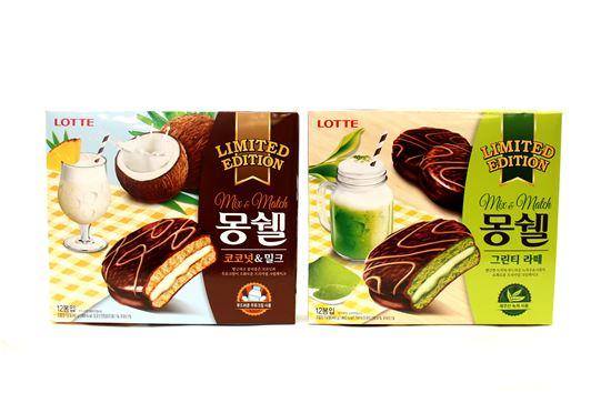 롯데제과 몽쉘, '그린티 라떼·코코넛&밀크' 2종 출시