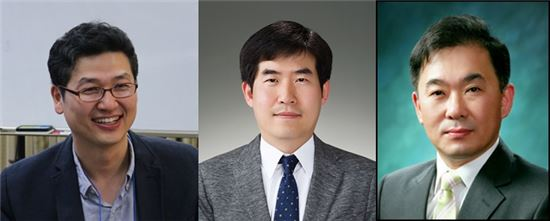 (왼쪽부터) 김재준 포스텍 교수, 이상민 한국전기연구원 박사, 김도향 연세대 교수