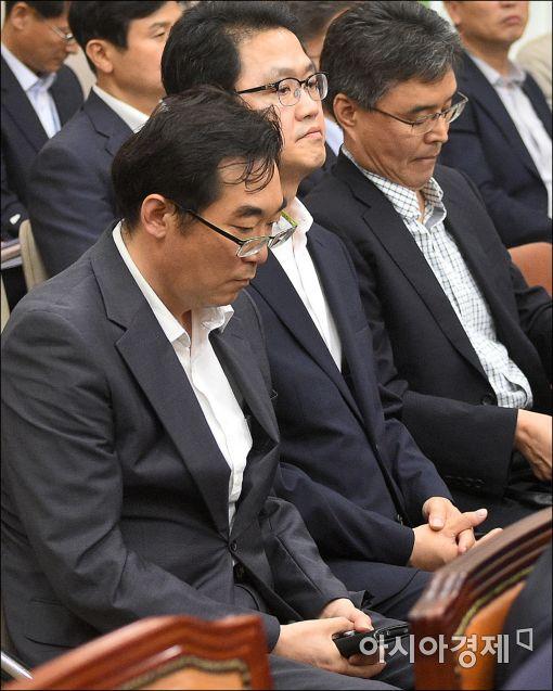 [포토]국회 출석한 나향욱 교육부 기획관
