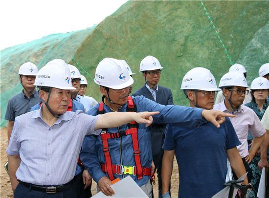 마포 석유비축기지 재생 및 공원화사업 현장