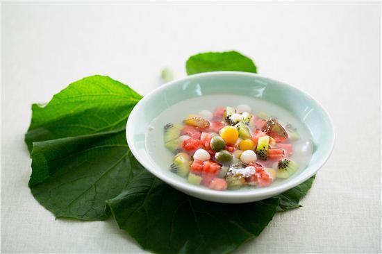 과일경단화채