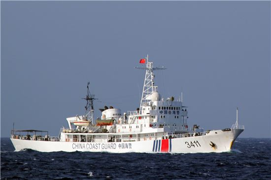 남중국해를 항해 중인 중국 해안경비정(사진=EPA연합뉴스)