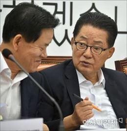 """박지원 """"安保 집권 전략으로 이용하는 것 문제…더민주, 입장내야"""""""