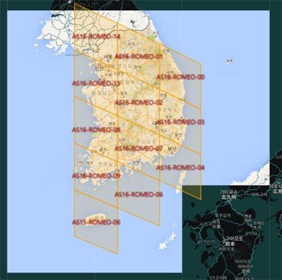 속초에서 포켓몬 고가 실행될 수 있는 배경에는 구글 지도를 사용하는 나이언틱이 전세계 지도를 마름모 형태로 큼직큼직하게 나눠 구역을 분리하기 때문이라는 가설이 설득력을 얻고 있다. (사진=인그레스 셀 맵)