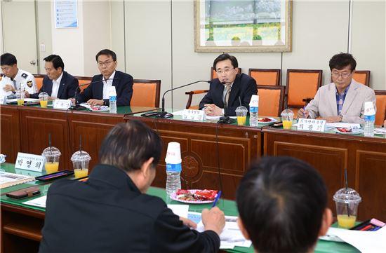 광주광역시 동구rk 14일 '우리동네 교통안전지킴이' 사업추진 동구지역 간담회를 개최했다.