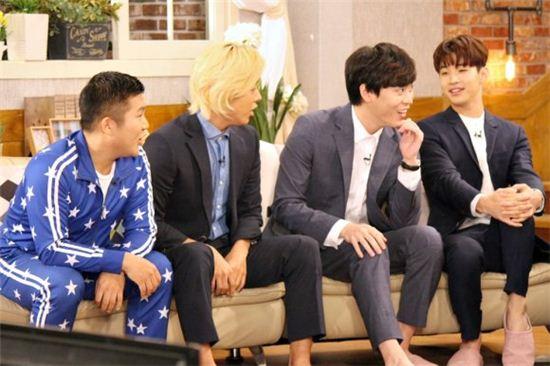 헤피투게더3 왼쪽부터 조세호, 강남, 존박, 헨리/사진=KBS