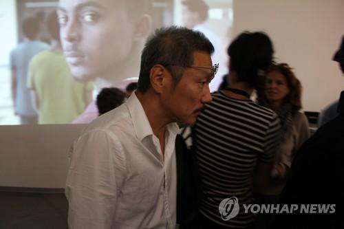 14일(현지시간) 프랑스 마르세유 국제영화제에 참석한 홍상수 감독. 사진=연합뉴스