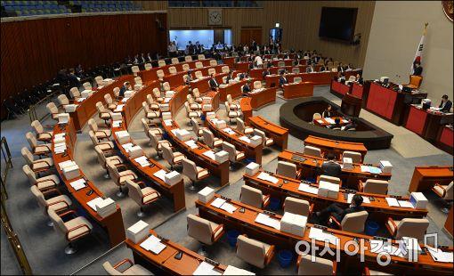 [포토]국회 모든 상임위 '파행'