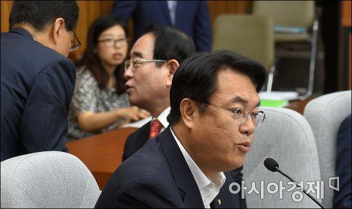 """[포토]정진석, """"새누리는 국회 보이콧 할것"""""""