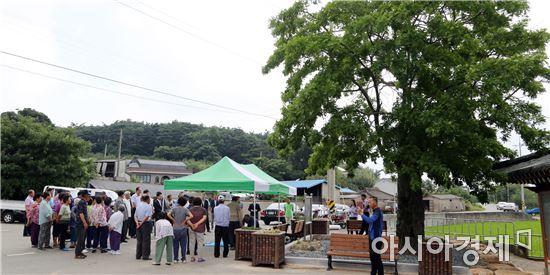 영암군 서호면 송산마을 당산제, 마을평안 기원