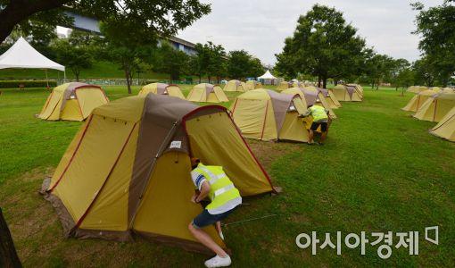 [포토]한강 여름 캠핑장 개장 준비~!