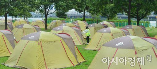 [포토]한강 여름 캠핑장, 개장 준비 끝!