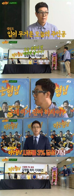 아는형님 김영철. 사진=JTBC '아는형님' 방송 캡쳐