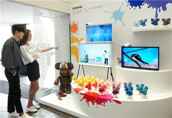 소비자가 추천한 '세리프 TV가 어울리는 힙(Hip)플레이스'에 선정된 한남동 소재 복합문화공간 '디뮤지엄'에 삼성 세리프 TV가 전시돼 있다.