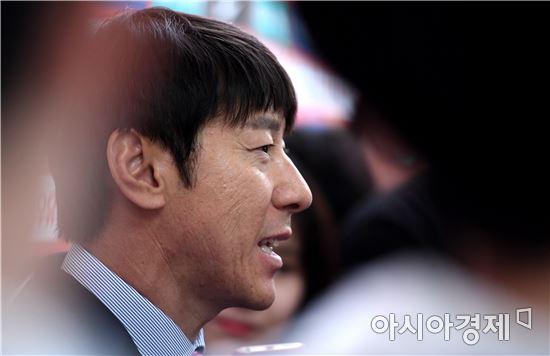 [포토]신태용 감독, '멋진 경기 준비하겠다'
