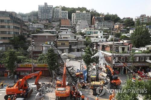홍은동 붕괴사고 현장/사진=연합뉴스