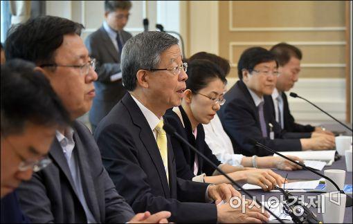 [포토]발언하는 김희옥 비대위원장