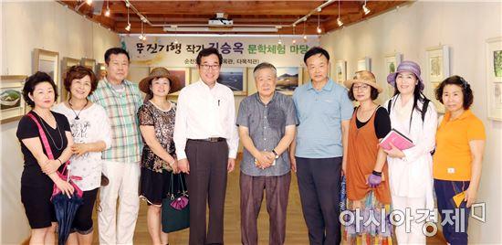 [포토]이낙연 전남지사,순천문학관 방문