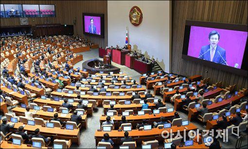 [포토]황교안 총리 '추경 시정연설'
