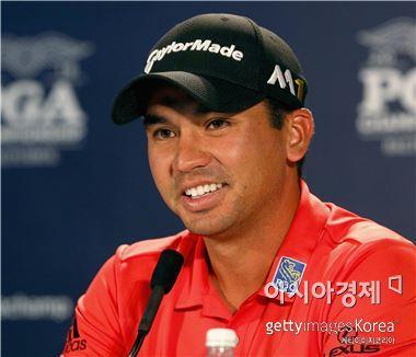 제이슨 데이가 PGA챔피언십 개막을 하루 앞두고 기자회견을 하고 있다. 스프링필드(美 뉴저지주)=Getty images/멀티비츠