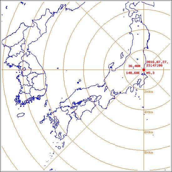 일본 지진. 사진=기상청