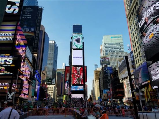 맨해튼 타임스퀘어 전경.